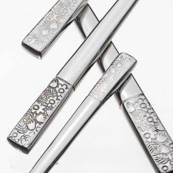 Sztućce Fiori Platinum dla 6 osób 24 części komplet