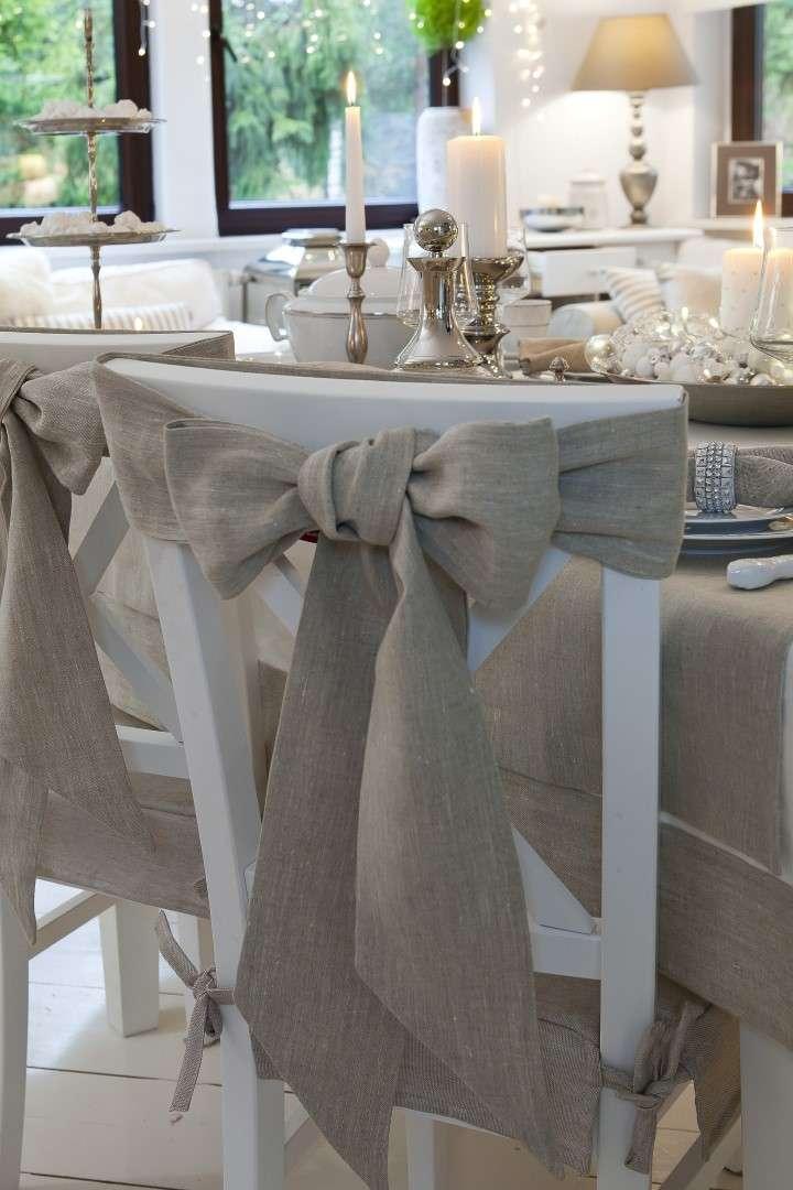 Šerpa na židli 270x12cm v kolekci Linen, látka: 392-05