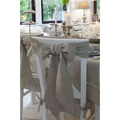Szarfa na krzesło 270x12cm w kolekcji Linen, tkanina: 392-05