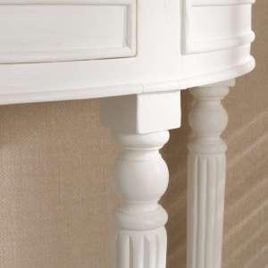 Konsola Anabell biała 80x40,5x75,5cm