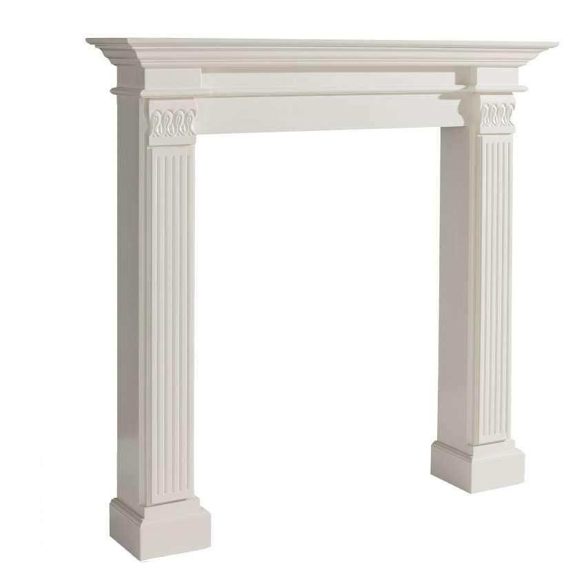 Kominek Maurice white 130x25x130cm