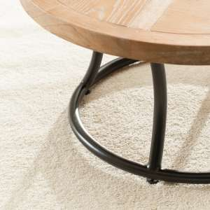 Stolik okrągły Kendari natural 90cm 90x46cm