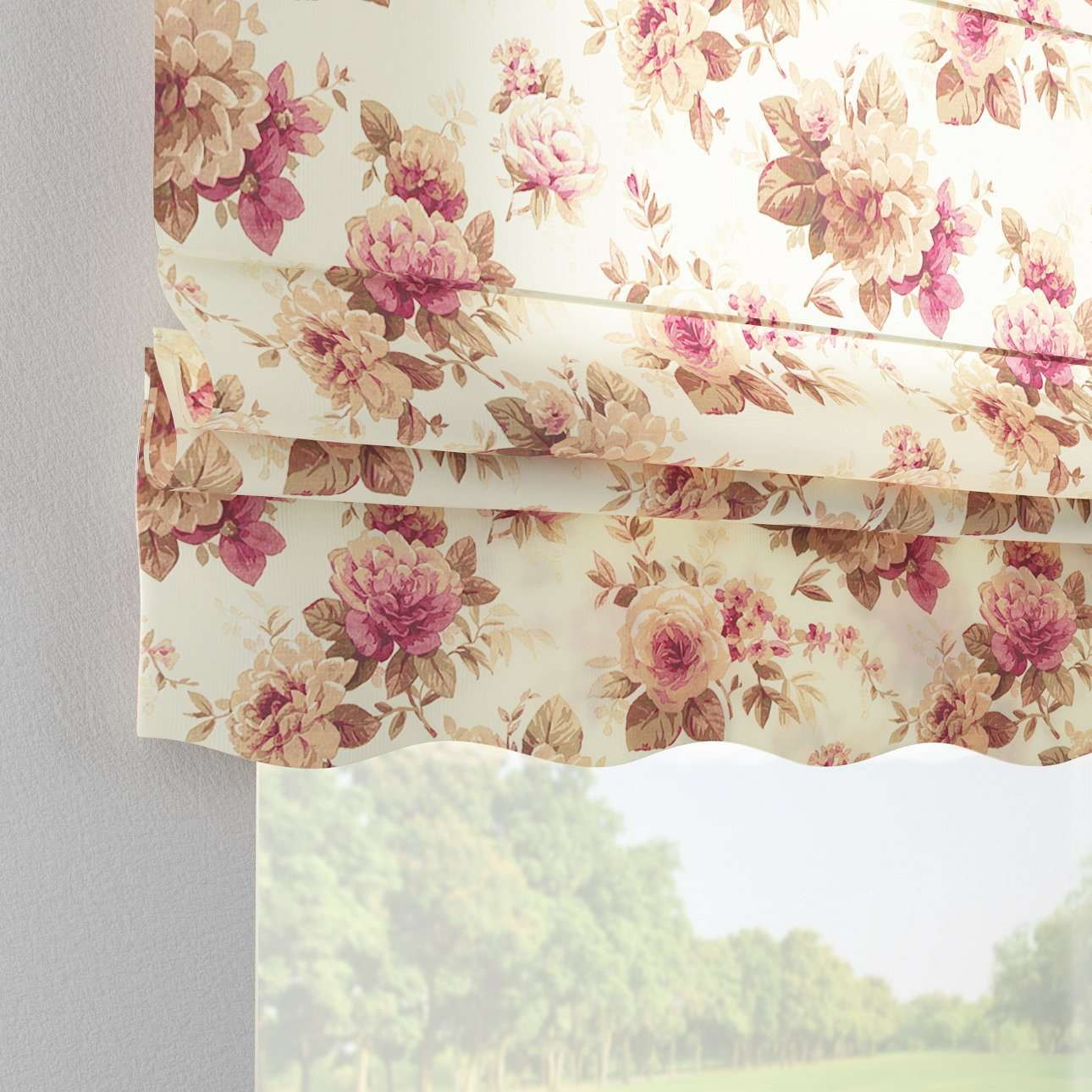 Florence roman blind  80 x 170 cm (31.5 x 67 inch) in collection Mirella, fabric: 141-06