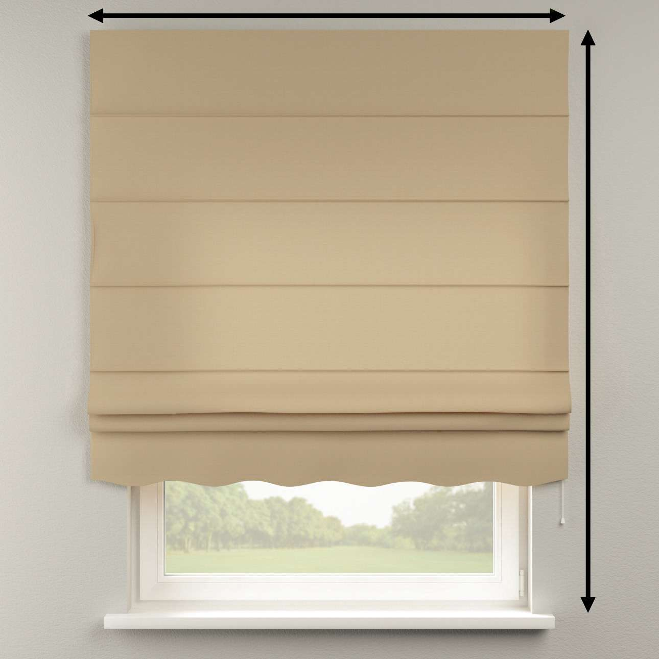Florence roman blind  80 x 170 cm (31.5 x 67 inch) in collection Cotton Panama, fabric: 702-01