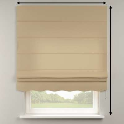 Florence roman blind 702-01 beige/cappuccino Collection Panama Cotton