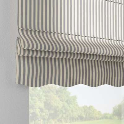 Florence roman blind 136-02 navy blue and white stripes (1.5cm) Collection Quadro