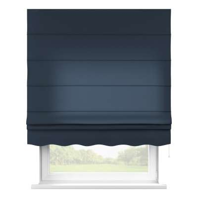 Florence roman blind 136-04 navy blue Collection Quadro