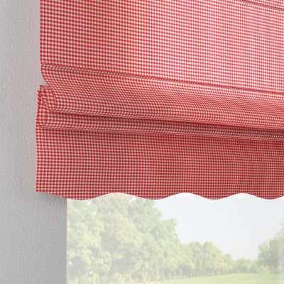 Florence roman blind 136-15 red and white check (0.5cm x 0.5cm) Collection Quadro