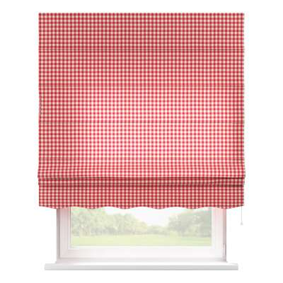 Florence roman blind 136-16 red and white check (1.5cm x 1.5cm) Collection Quadro