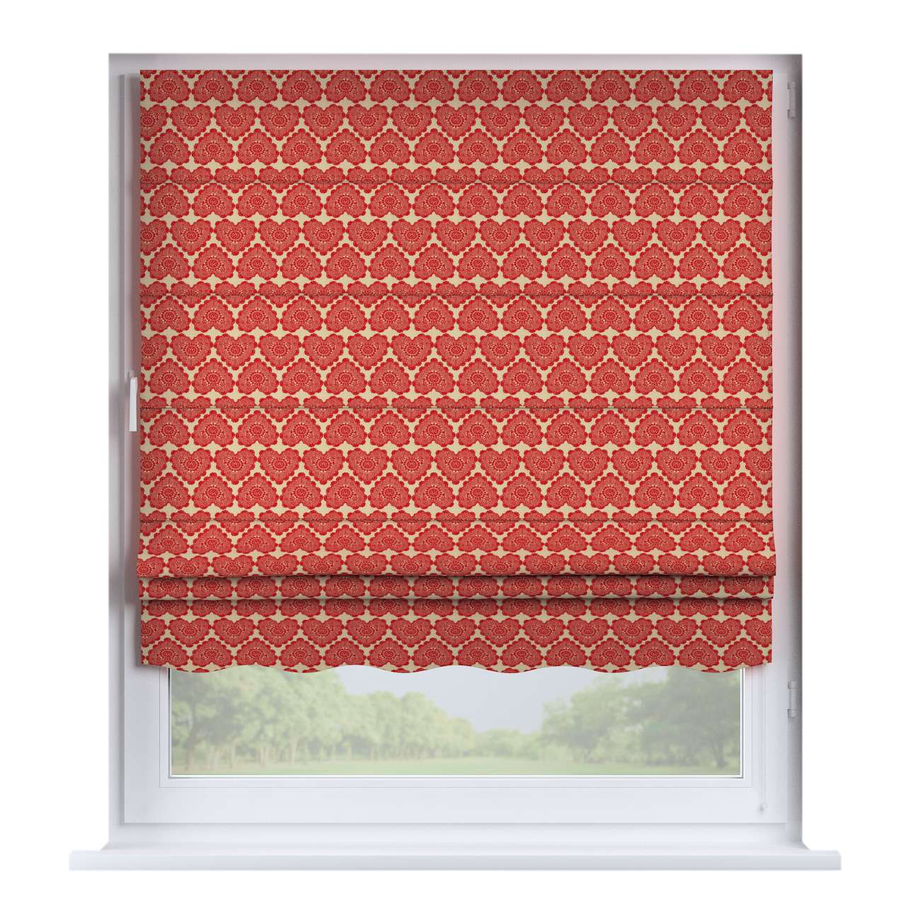 Florence roman blind  80 x 170 cm (31.5 x 67 inch) in collection Christmas, fabric: 629-17