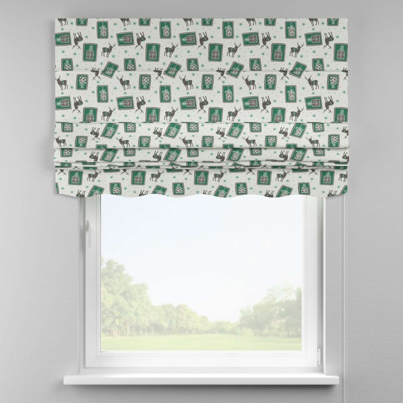 Florence roman blind  80 x 170 cm (31.5 x 67 inch) in collection Nordic, fabric: 630-13