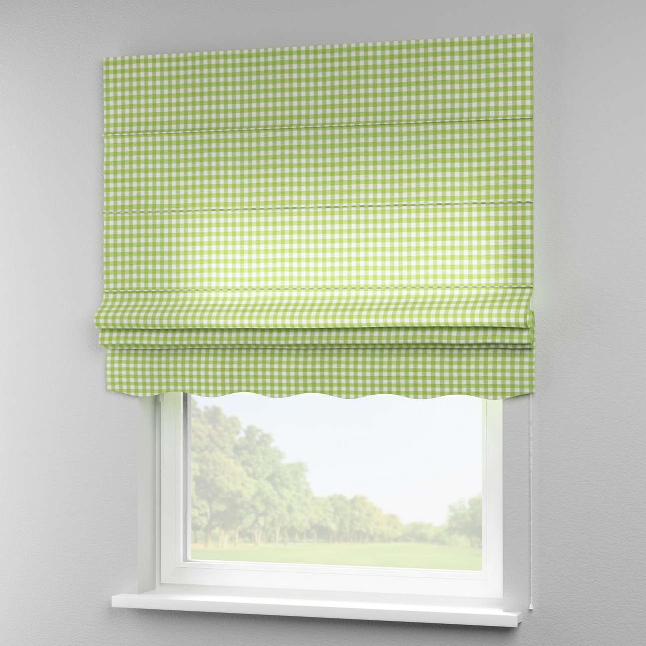 Florence roman blind  80 x 170 cm (31.5 x 67 inch) in collection Quadro, fabric: 136-34