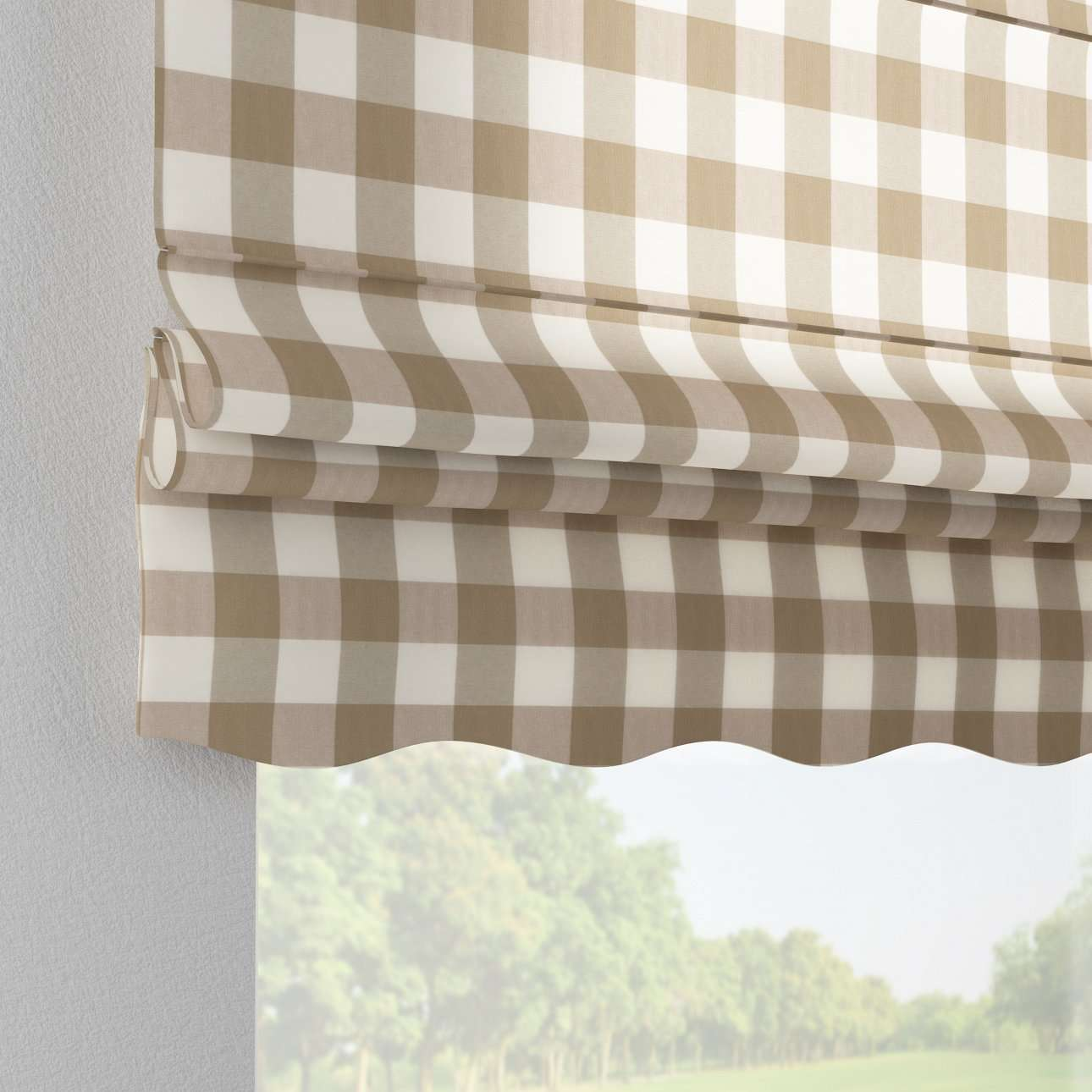 Florence roman blind  80 x 170 cm (31.5 x 67 inch) in collection Quadro, fabric: 136-08