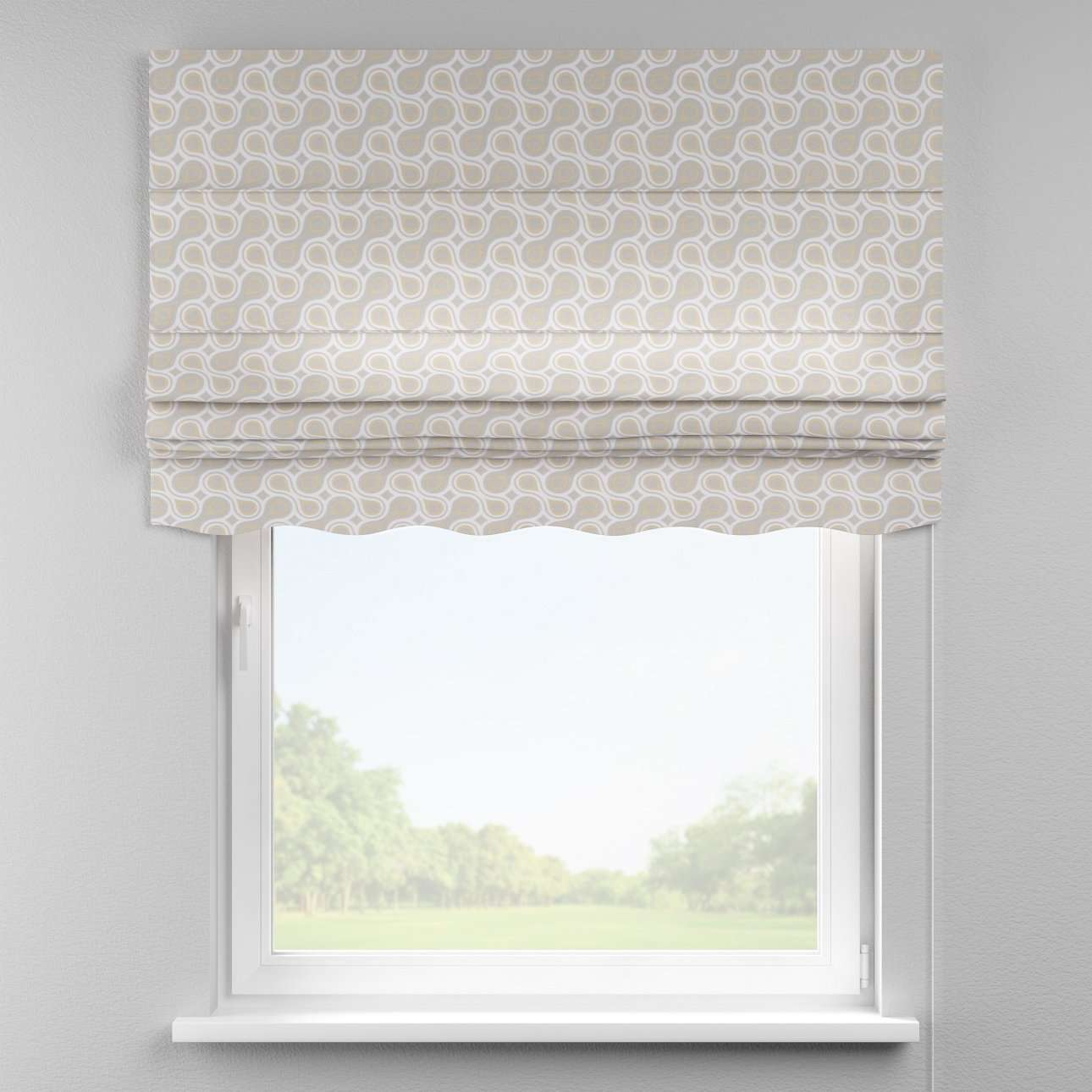 Florence roman blind  80 x 170 cm (31.5 x 67 inch) in collection Flowers, fabric: 311-11