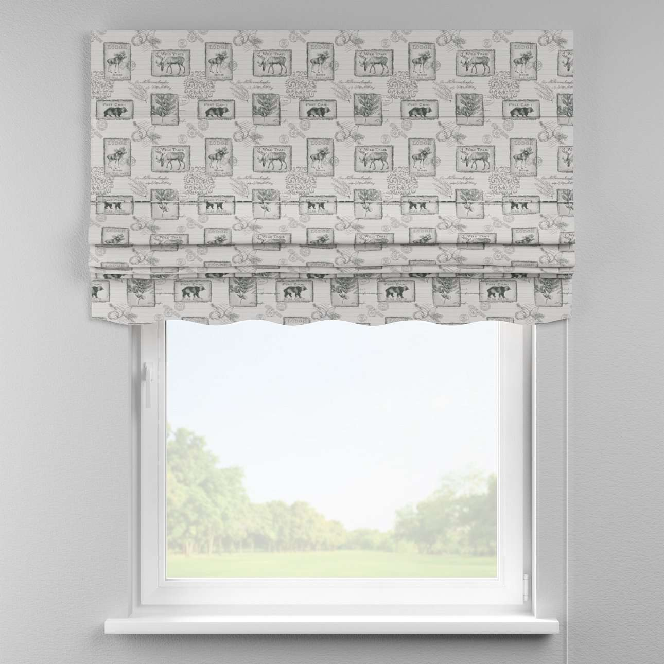 Florence roman blind  80 x 170 cm (31.5 x 67 inch) in collection Nordic, fabric: 630-18