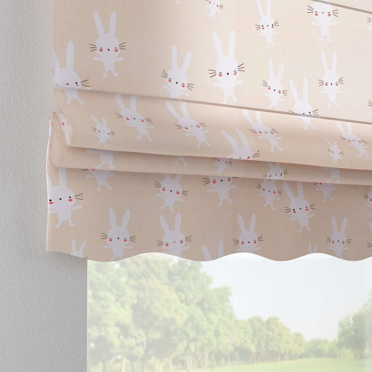 Florence roman blind  80 x 170 cm (31.5 x 67 inch) in collection Apanona, fabric: 151-00