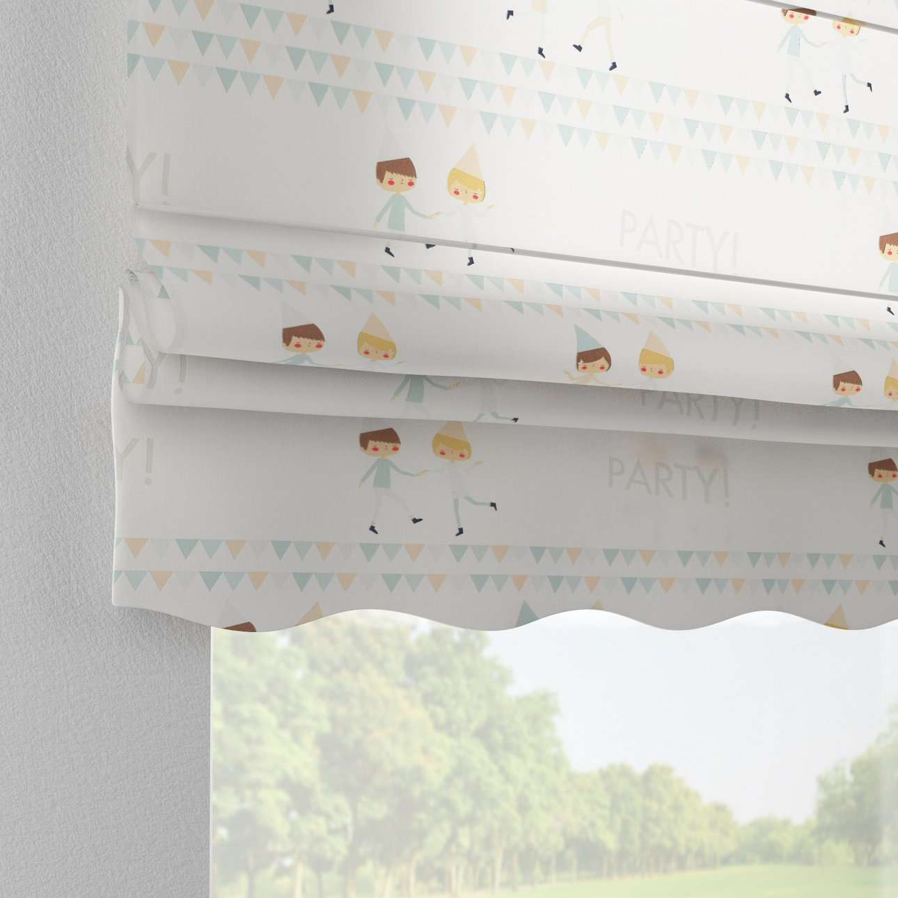 Florence roman blind  80 x 170 cm (31.5 x 67 inch) in collection Apanona, fabric: 151-01