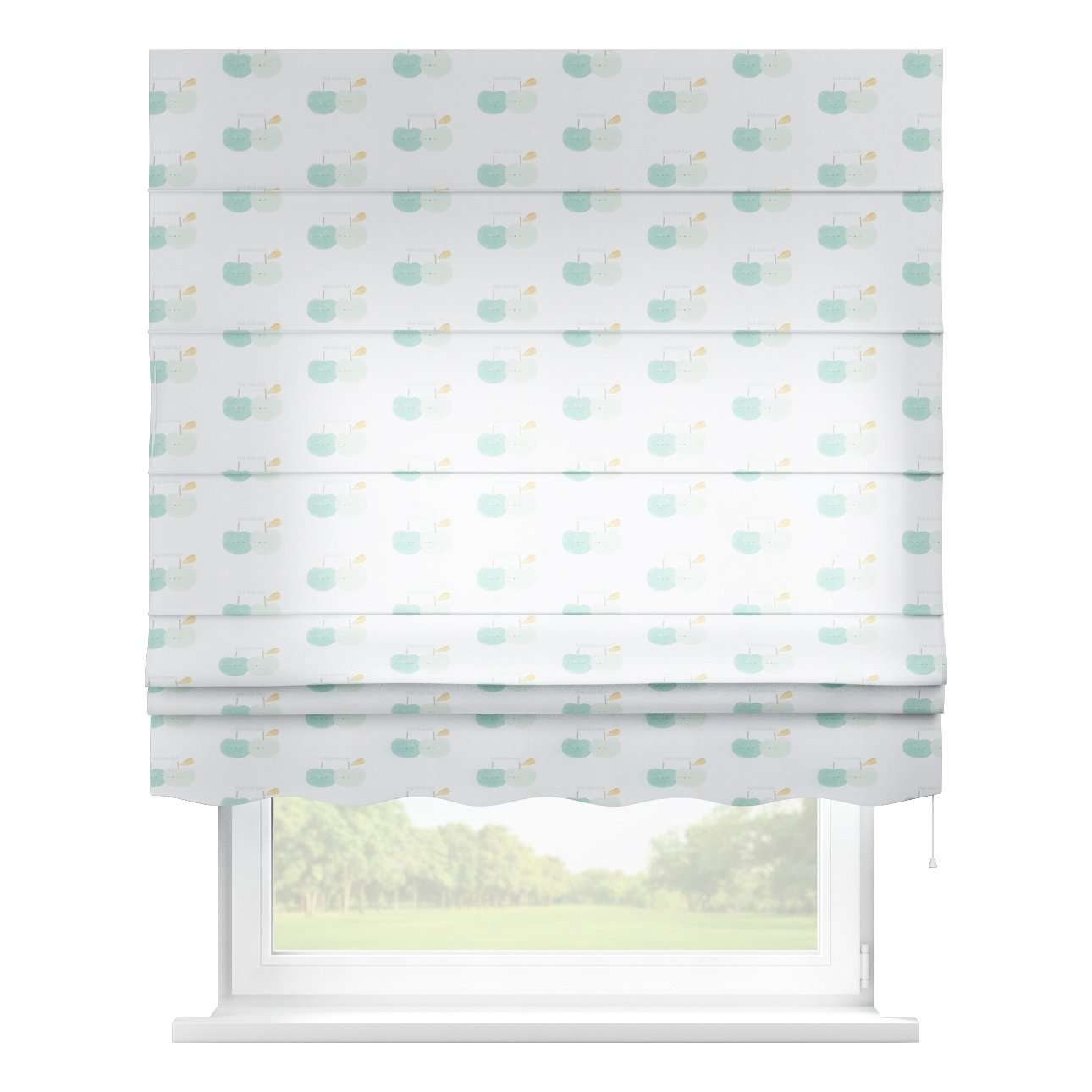 Florence roman blind  80 x 170 cm (31.5 x 67 inch) in collection Apanona, fabric: 151-02