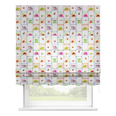 Florence roman blind 151-04 animal print on grey background Collection Little World