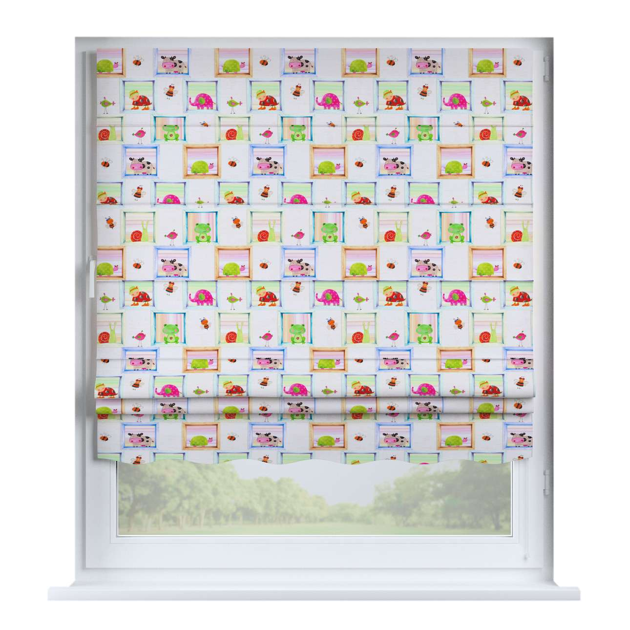Florence roman blind  80 x 170 cm (31.5 x 67 inch) in collection Apanona, fabric: 151-04