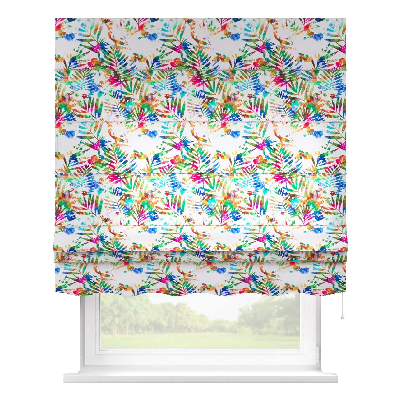 Florence roman blind  80 x 170 cm (31.5 x 67 inch) in collection New Art, fabric: 140-22
