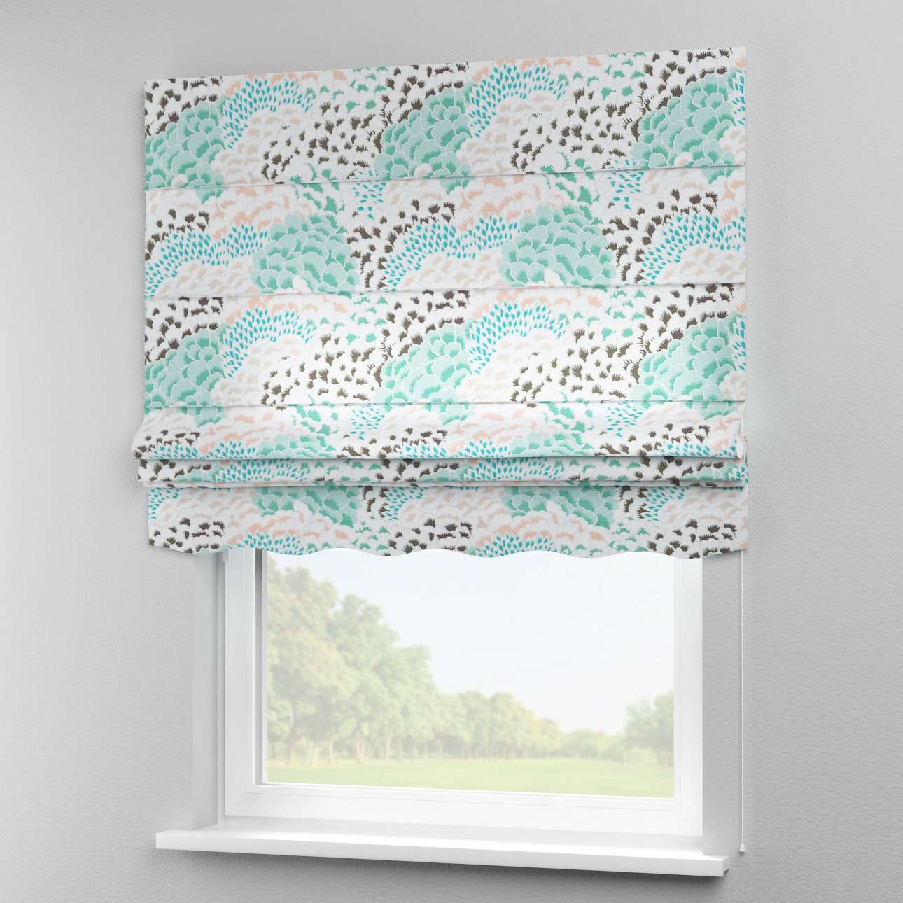 Florence roman blind  80 x 170 cm (31.5 x 67 inch) in collection Brooklyn, fabric: 137-89