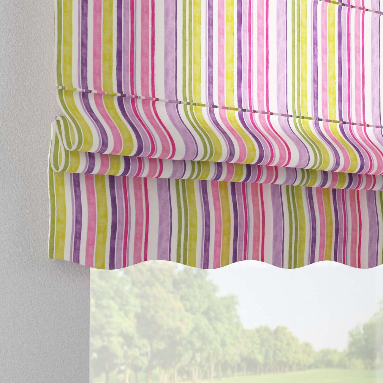 Florence roman blind  80 x 170 cm (31.5 x 67 inch) in collection Monet, fabric: 140-01