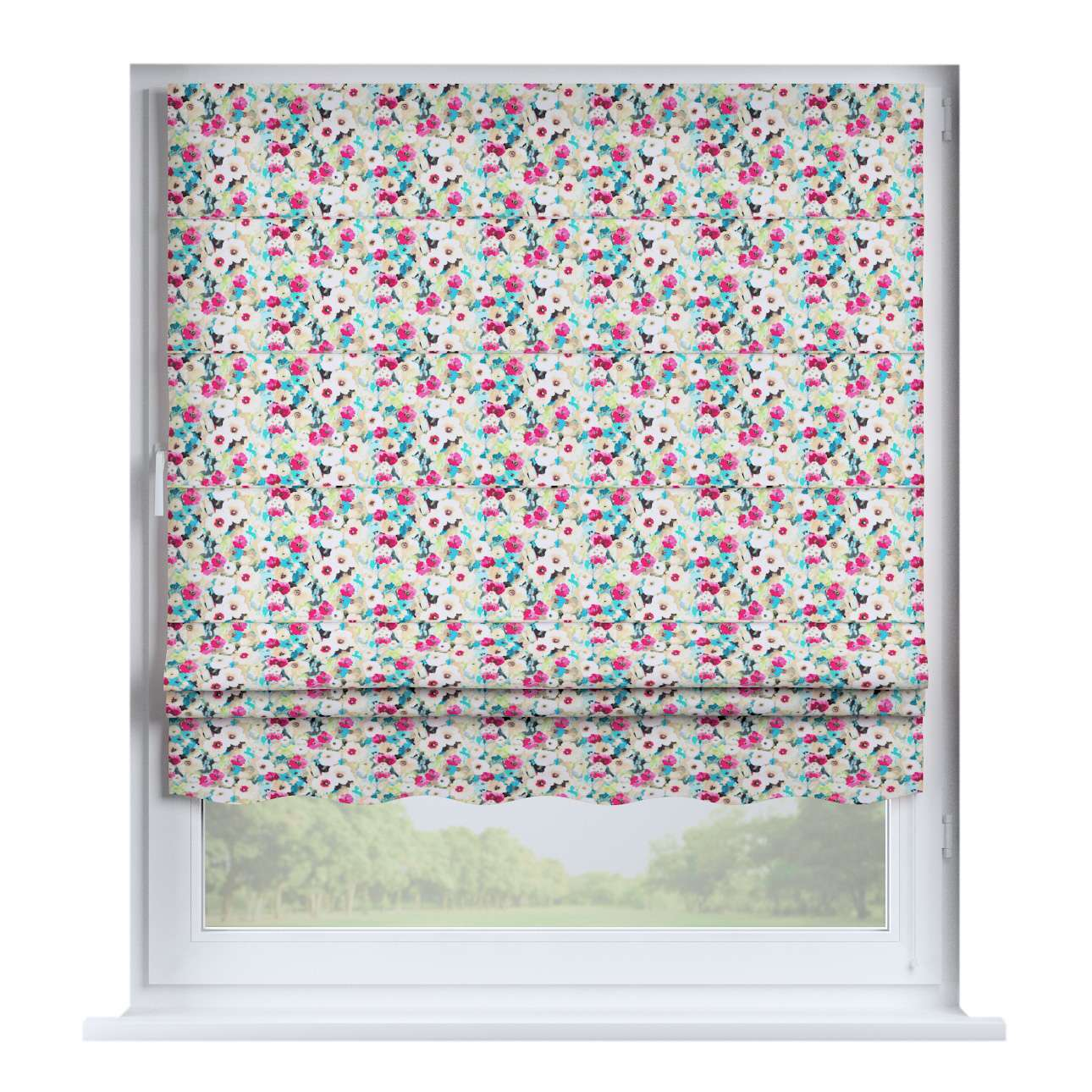 Florence roman blind  80 x 170 cm (31.5 x 67 inch) in collection Monet, fabric: 140-10