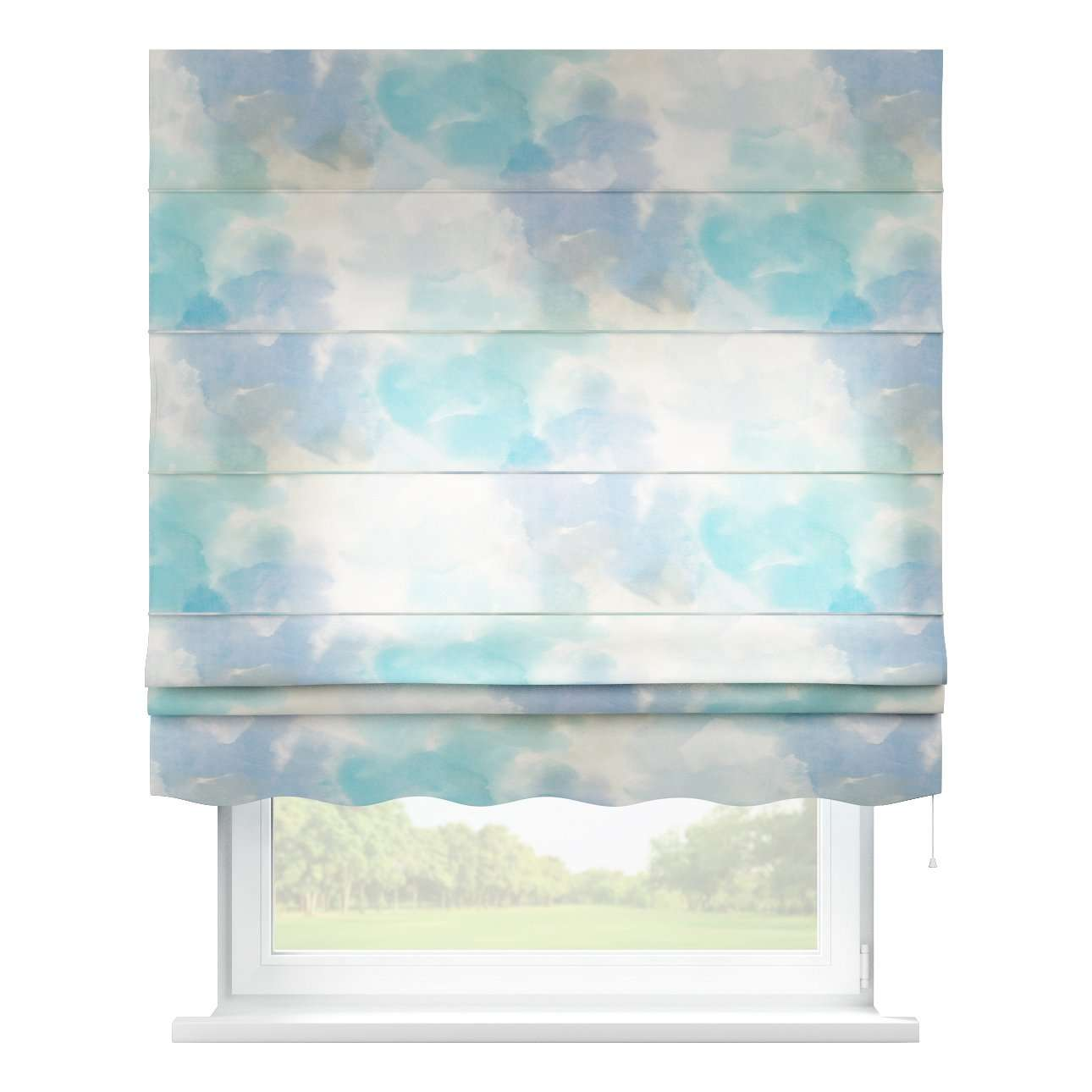 Florence roman blind  80 x 170 cm (31.5 x 67 inch) in collection Aquarelle, fabric: 140-67