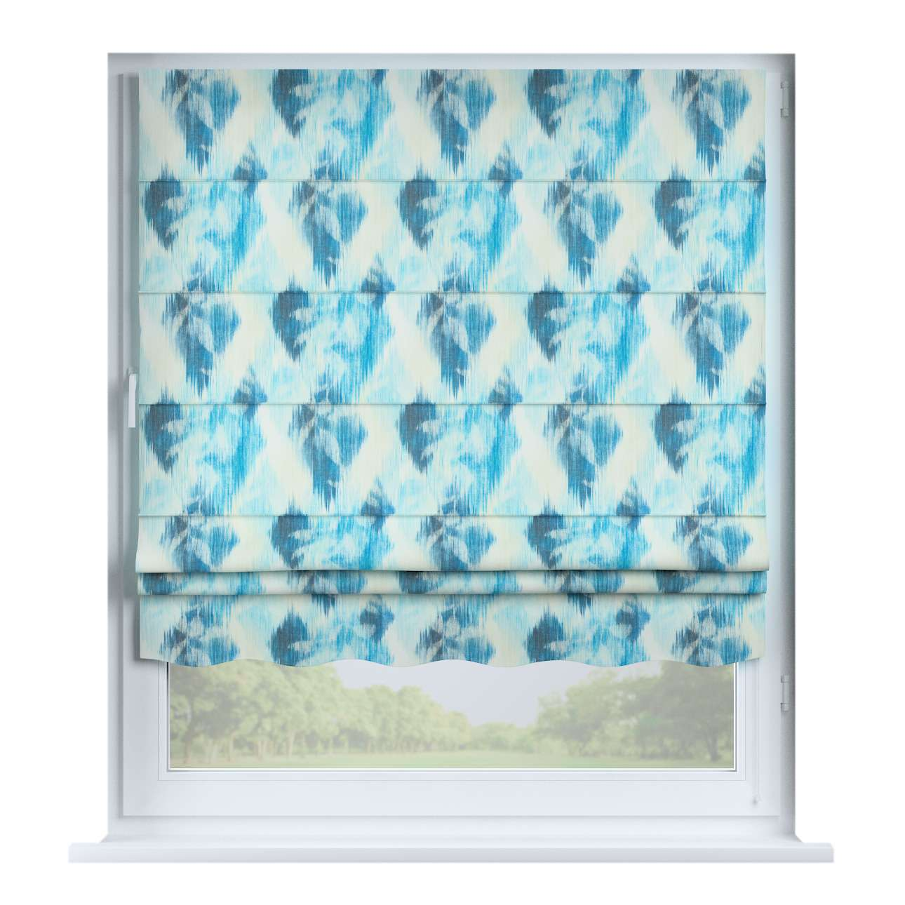 Florence roman blind  80 x 170 cm (31.5 x 67 inch) in collection Aquarelle, fabric: 140-71