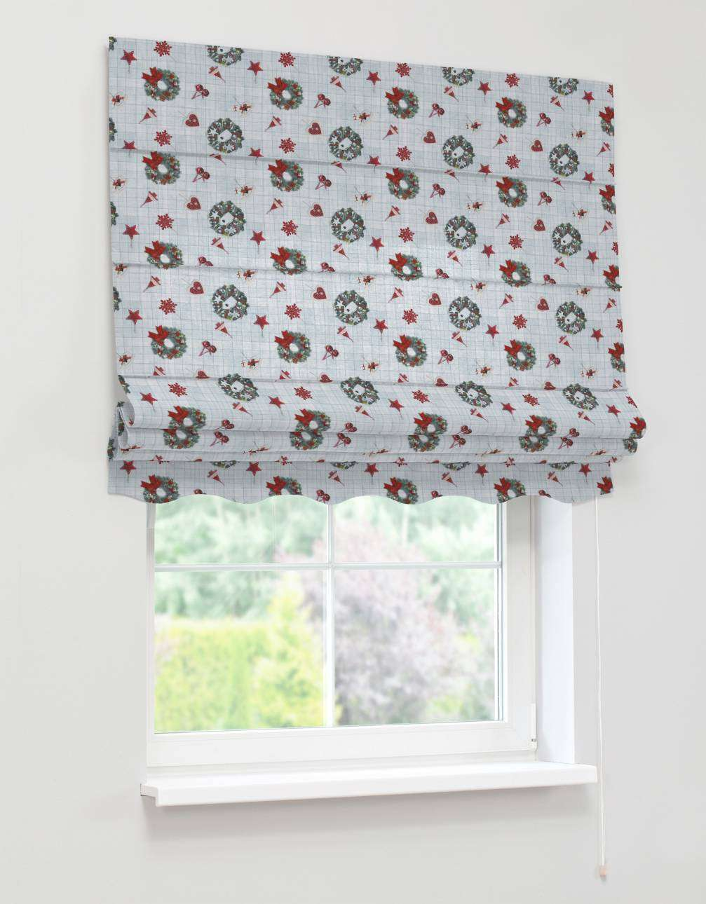 Florence roman blind  80 x 170 cm (31.5 x 67 inch) in collection Christmas , fabric: 629-26