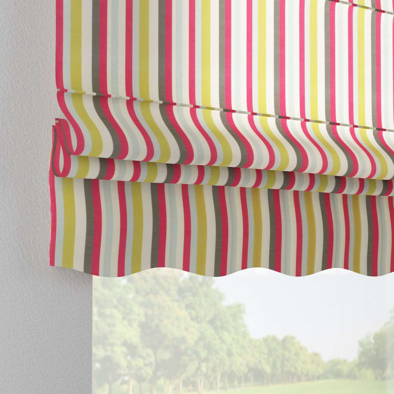 Florence roman blind  80 x 170 cm (31.5 x 67 inch) in collection Flowers, fabric: 140-81