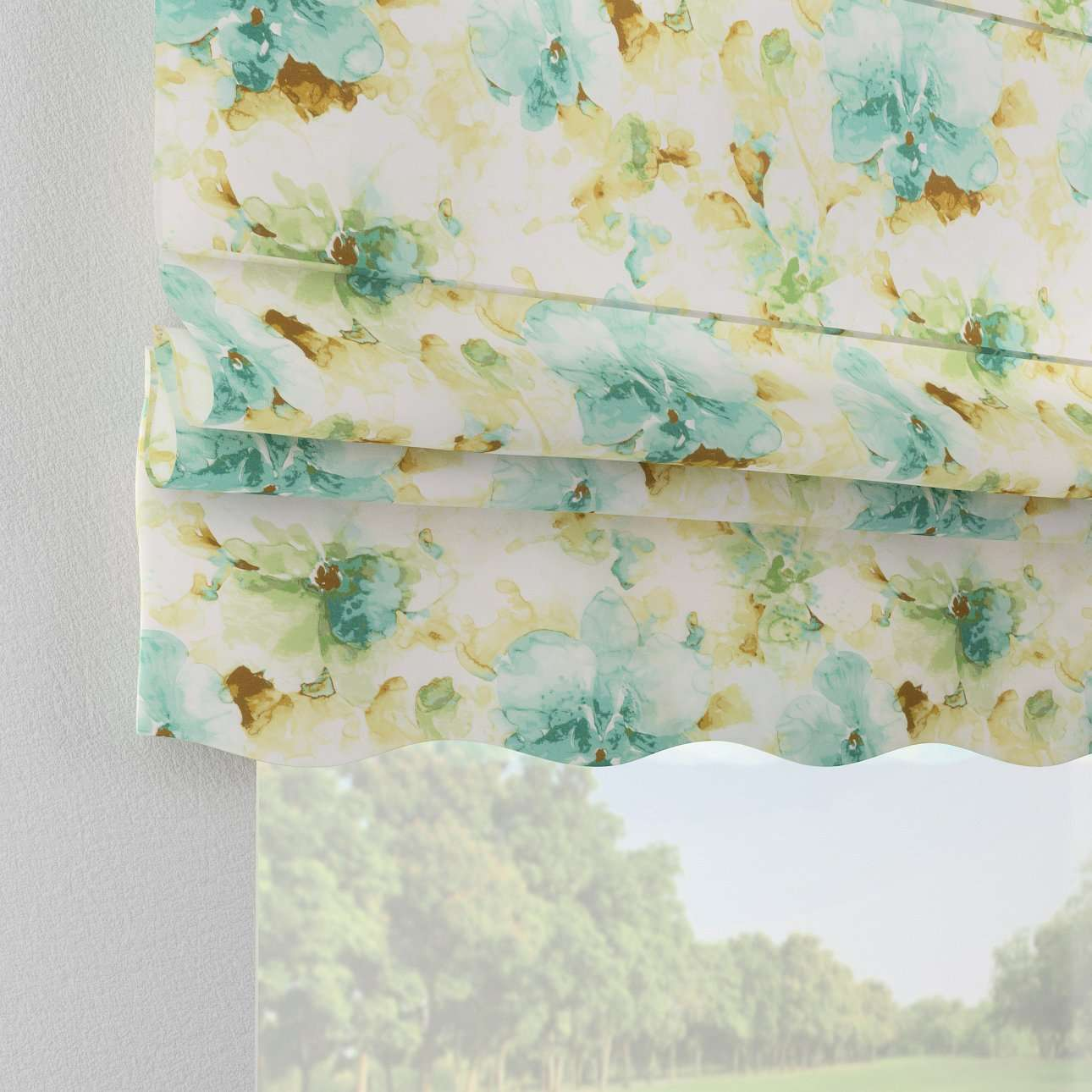 Florence roman blind  80 x 170 cm (31.5 x 67 inch) in collection Acapulco, fabric: 141-35