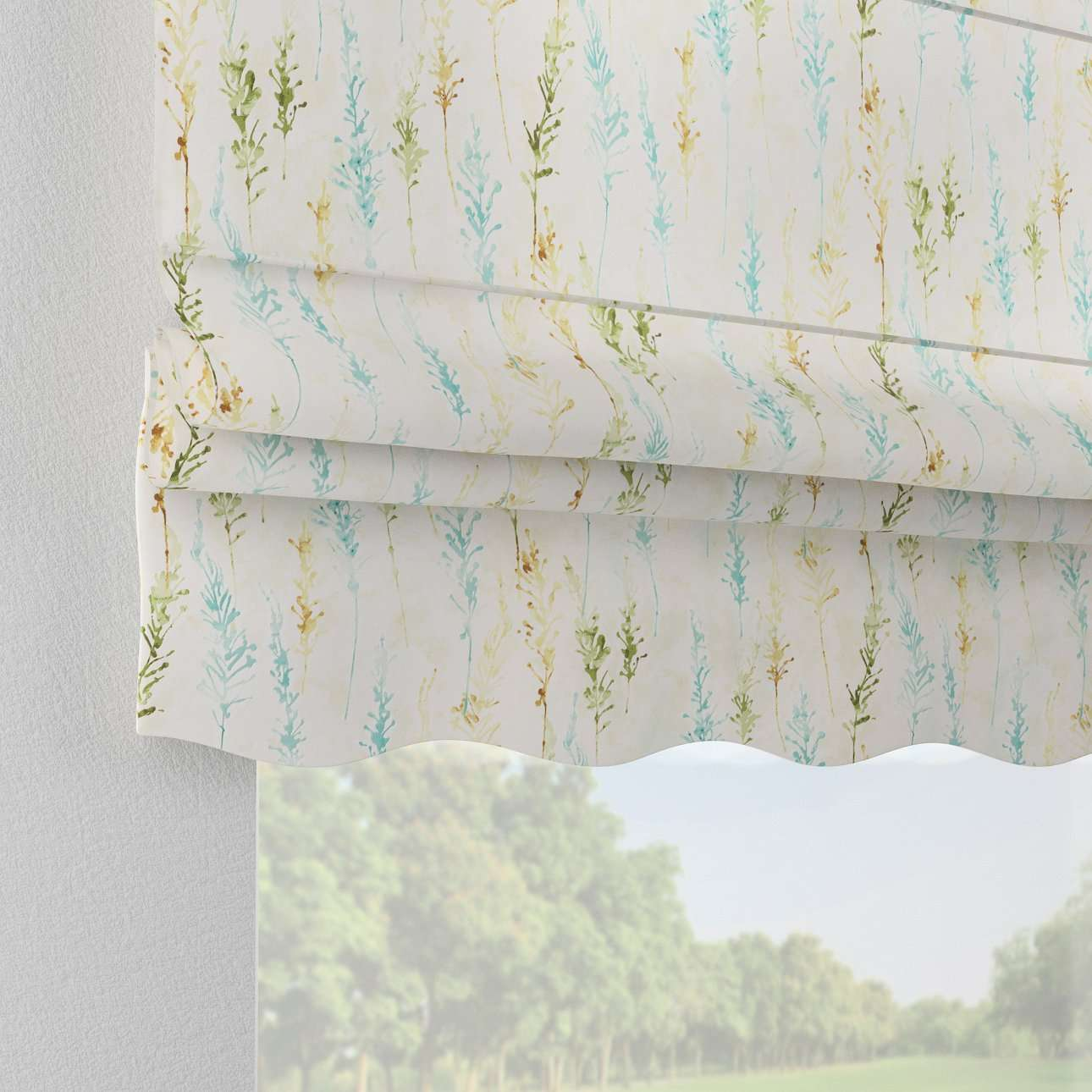 Florence roman blind  80 x 170 cm (31.5 x 67 inch) in collection Acapulco, fabric: 141-38