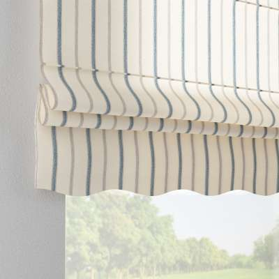 Florence roman blind 129-66 blue stripes, ivory background Collection Avinon