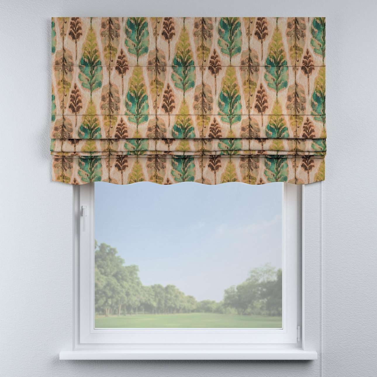 Florence roman blind  80 × 170 cm (31.5 × 67 inch) in collection Urban Jungle, fabric: 141-60