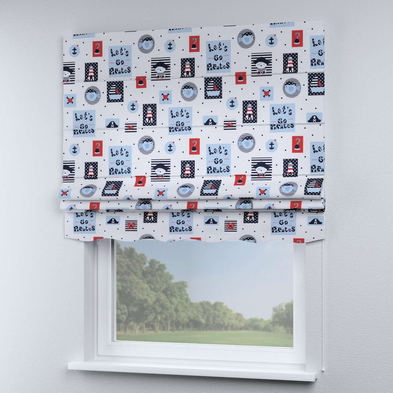 Florence roman blind  in collection Little World, fabric: 141-29