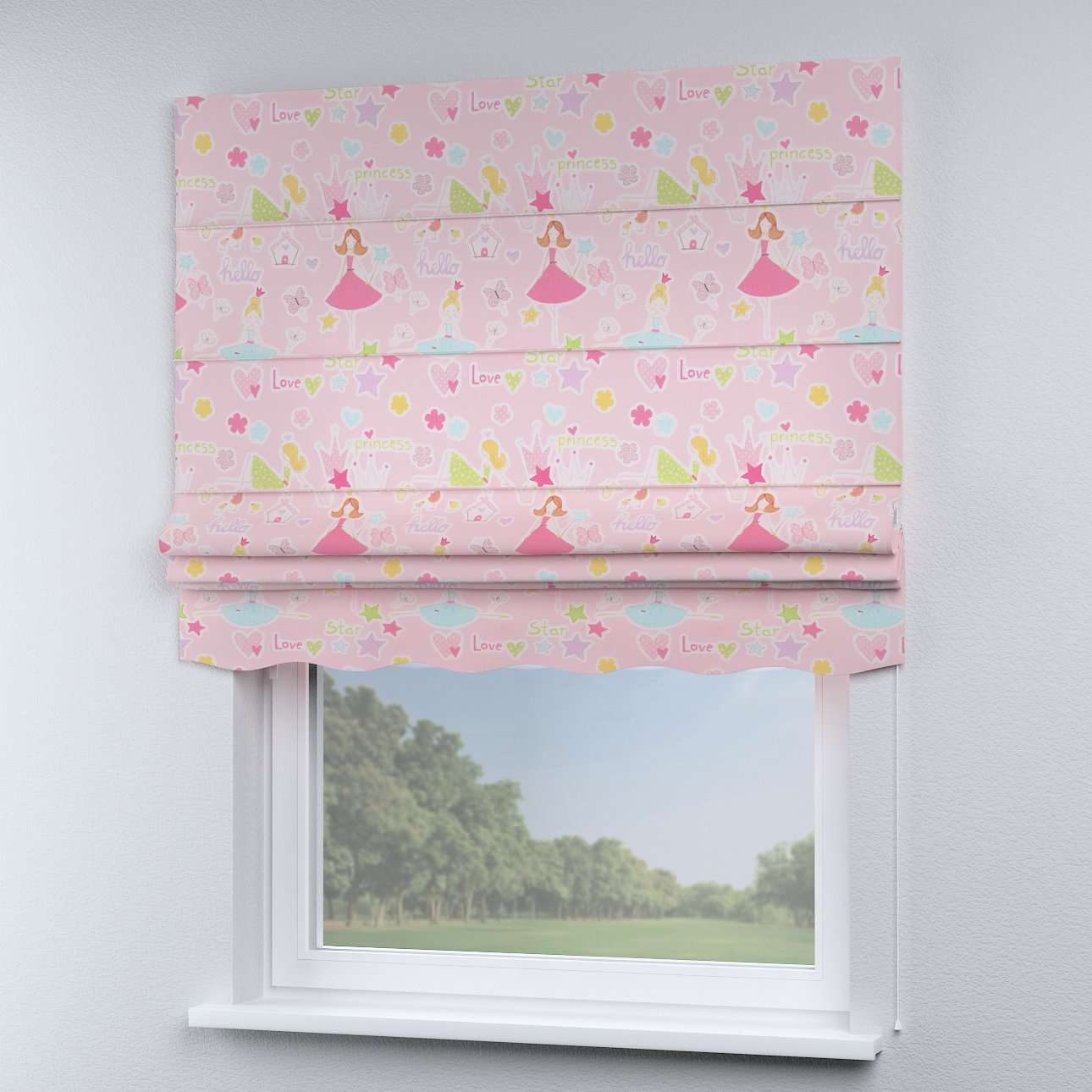 Florence roman blind  80 x 170 cm (31.5 x 67 inch) in collection Little World, fabric: 141-50