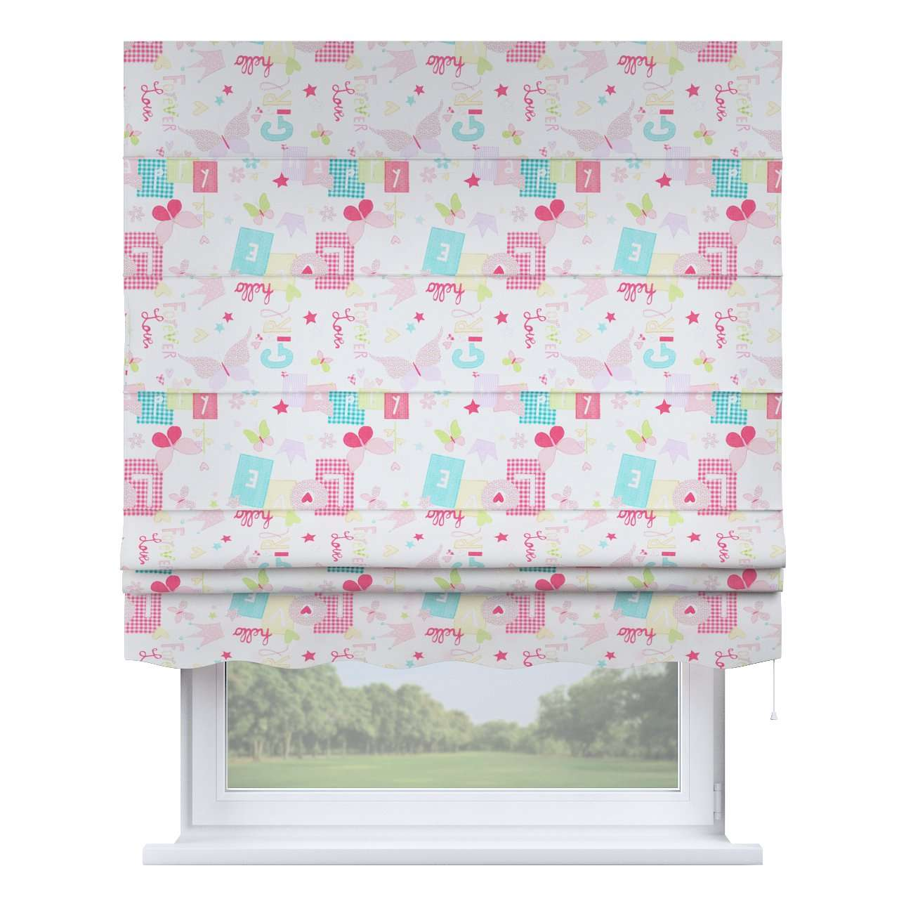 Florence roman blind  80 × 170 cm (31.5 × 67 inch) in collection Little World, fabric: 141-51