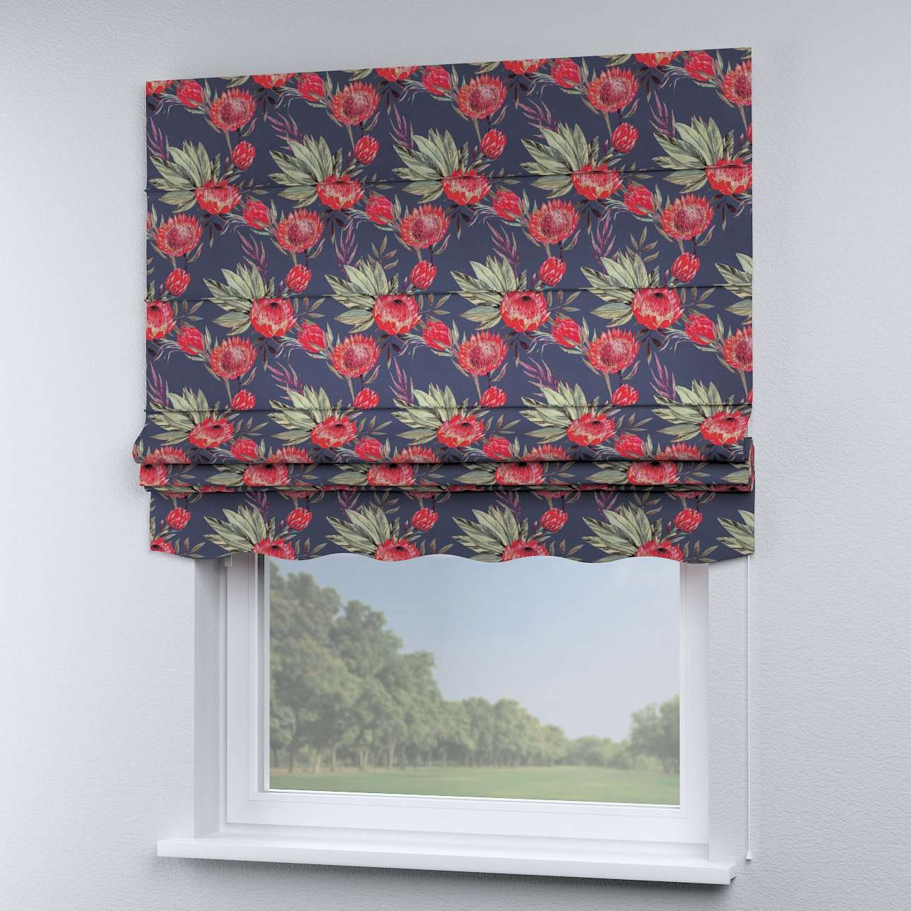 Florence roman blind  80 x 170 cm (31.5 x 67 inch) in collection New Art, fabric: 141-57
