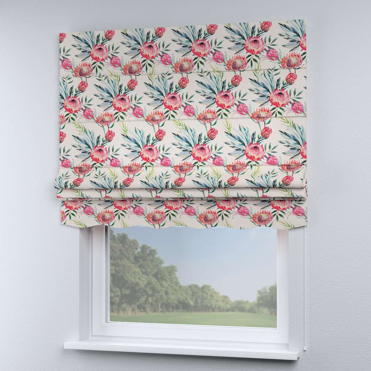 Florence roman blind  80 x 170 cm (31.5 x 67 inch) in collection New Art, fabric: 141-59