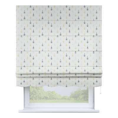 Florence roman blind 141-84 creme- beige and black Collection Adventure