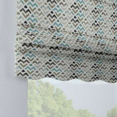 Florence roman blind 141-93 blue and beige print on a light background Collection Modern