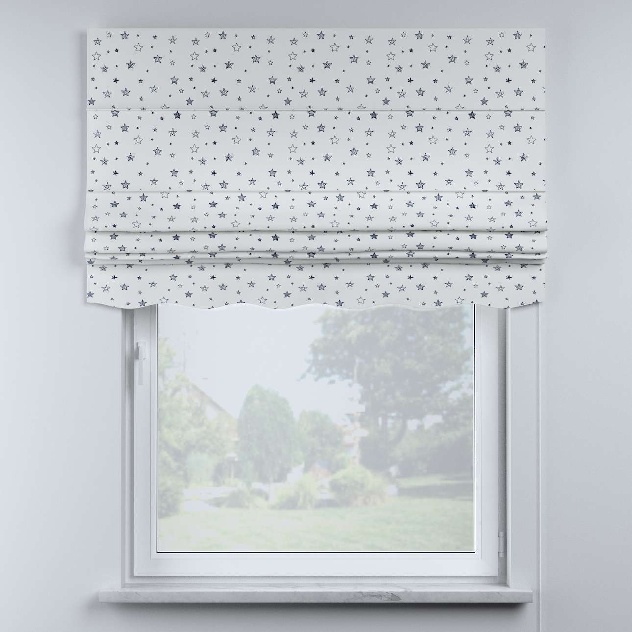 Mela roman blind in collection Magic Collection, fabric: 500-08