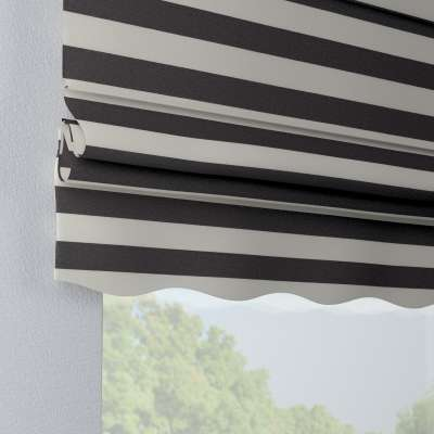 Florence roman blind 142-72 graphite grey and white stripes (5.5cm) Collection Quadro