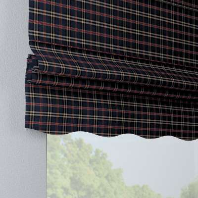 Florence roman blind 142-68 dark blue and red check Collection Bristol
