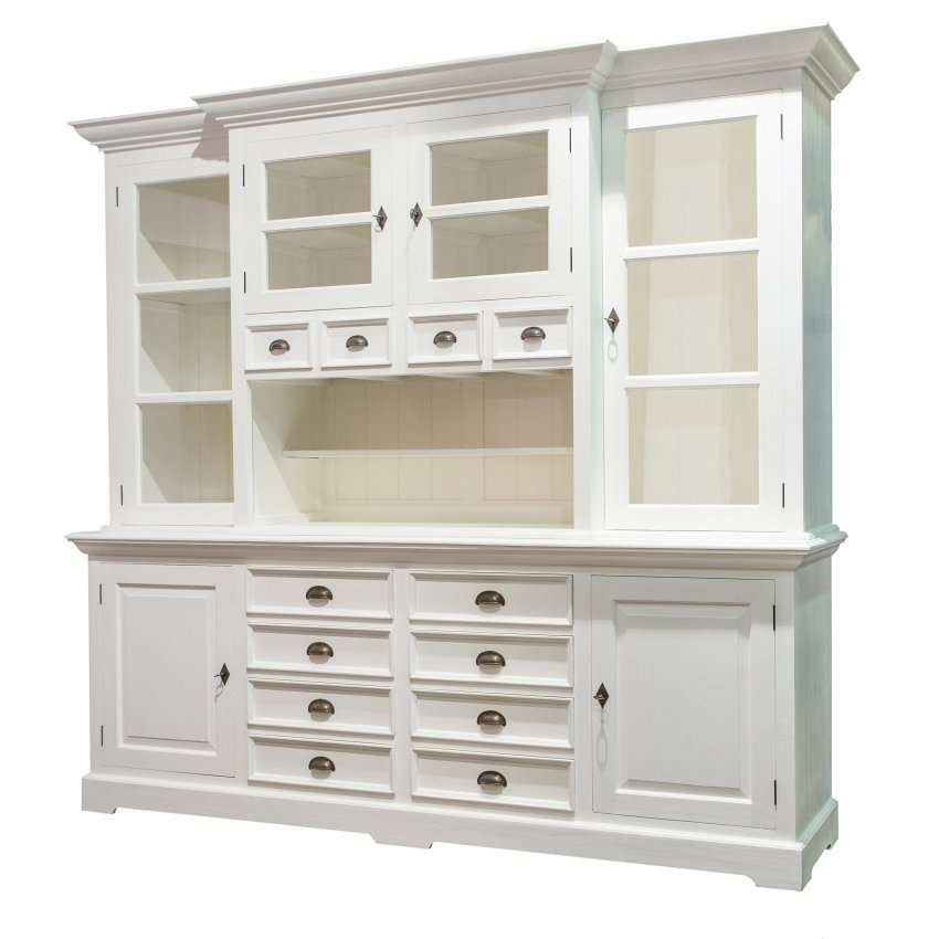 buffetschrank brighton 225x45x220 white 225x45x220cm dekoria. Black Bedroom Furniture Sets. Home Design Ideas