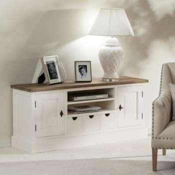 TV-Board Brighton 150x40x65cm white&natural