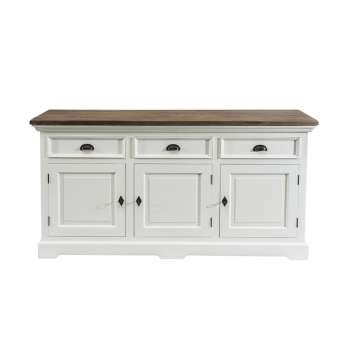 Komoda Brighton 180x55x95cm white&natural grey 180x55x95cm