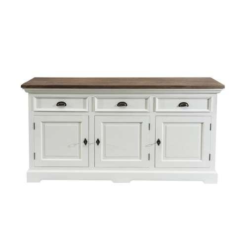 Dressoir Brighton 180x55x95cm white&natural grey
